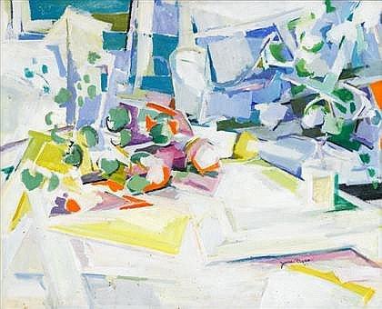 Jane Piper Still Life 1961 Oil on Canvas