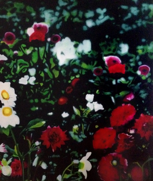 View of Garden 62x52 Oil on Canvas